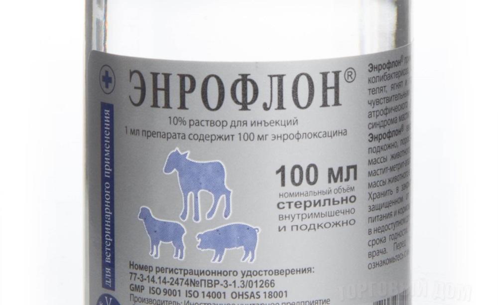 Свойства лекарства Энрофлон в ветеринарии