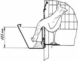 Схема кормушки для кур