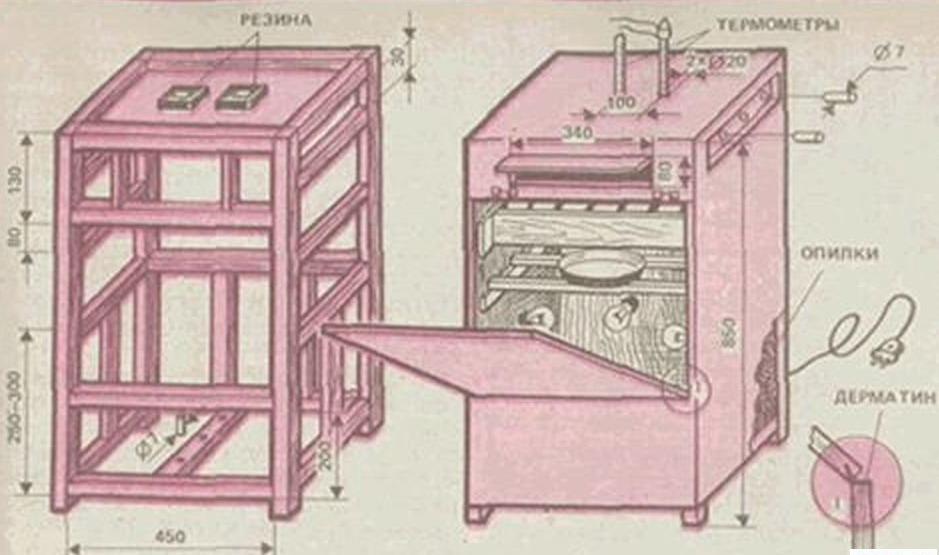 Деревянный инкубатор