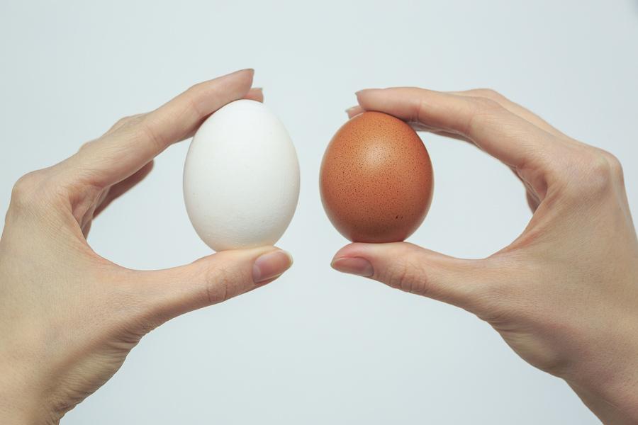 Яйца в руках
