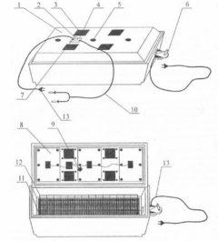Схема инкубатора Золушка